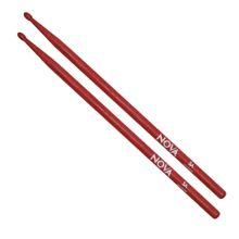 baqueta-vermelha-5a-ponta-de-madeira-nova